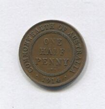 1914 H Half Penny Commonwealth Australia SHOWS 6 PEARLS  J-286