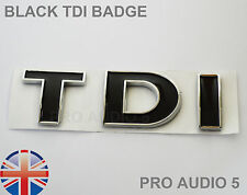 BLACK TDI BOOT BADGE -  TURBO DIESEL - CAR VAN - UK VW Golf Bora Passat T4
