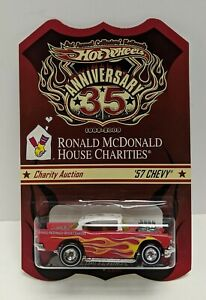 Hot Wheels 3rd Annual Collector's R.McDonald Charity Auction '57 CHEVY 2003 NIP