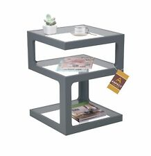 Rossini Triple Level Side Table/Coffee Table/End Table/lamp Table (Grey)-ST13GY