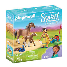 Playmobil 70122 Spirit Pru with Horse & Foal Play Set, Age 4+