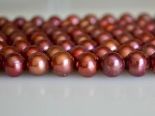 10 mm Cranberry Potato Freshwater Pearl Beads, Genuine Cultured Pearl Bead(#531)