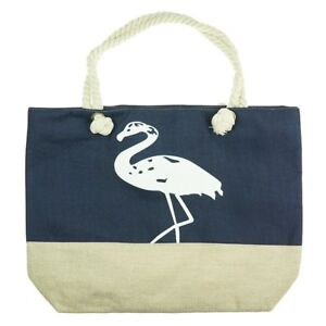 Unidecor Woman Tote Navy Handbag Foldable Shopping PU Shoulder Bag Ladies Bags