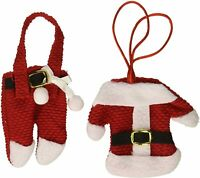 6pcs Santa Suit Christmas Silverware Holder Pockets