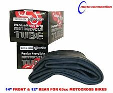 "GBC HEAVY DUTY 14"" FRONT & 12"" REAR HEAVY DUTY INNER TUBES FOR KTM SX65 2010"