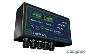 Ecotechnics Evolution Grow Room Fan,Temperature & Humidity Controller hydroponic