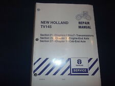 NEW HOLLAND TV145 TRACTOR TRANSMISSION & ENGINE AXLE SERVICE SHOP REPAIR MANUAL