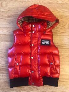 Burberry Children Boy Puffer Down Vest 8Y - NWT