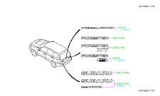 Genuine OEM Subaru Forester Rear Tailgate Emblem  2009 - 2010 (93073SC010)