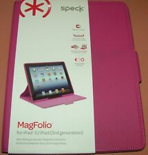 Speck MagFolio for iPad 2/iPad 3rd Gen, Pink Leather Cover, magnetic closure NEW