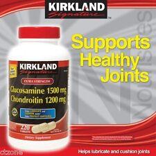Kirkland Glucosamine 1500 mg Chondroitin Sulfate 1200 mg 220 Tablets Signature