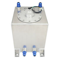 Universal 10L 2.5 Gallon Racing Drift Fuel Cell Tank Can W/ Level Sender Silver