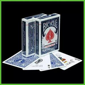 Carte da gioco Francesi Mazzo BICYCLE RIDER BACK Blu Giochi di prestigio e Magia