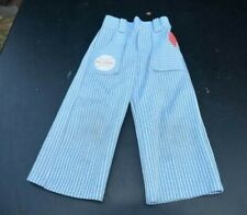 "Vintage Carter'S Boys Sz: 3T ""Big League World Series"" Blue/White Striped Pants"
