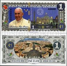 2016 POPE FRANCIS CITTA DEL VATICANO SPECIMEN A00000 EURO POLYMER FANTASY NOTE!