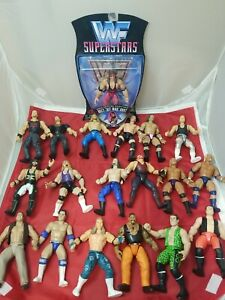 HUGE LOT WWF WWE Jakks BCA Wrestling Figures Bone Crunching Action RARE Hart Moc