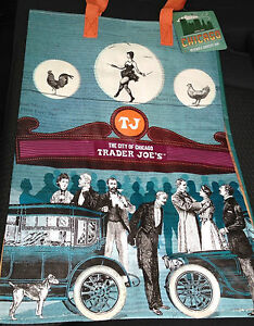 1 Trader Joe's Eco Reusable Grocery Tote Bag Chicago IL Chi town Windy City Gift