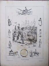GRAVURE 1840 VICTOR ADAM MIEUX VAUT LE 1ER DANS UN VILLAGE QUE LE 2EME A ROME