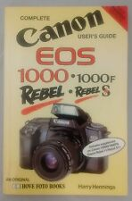 Canon EOS Rebel & Rebel S User Guide by Harry Hennings 1994