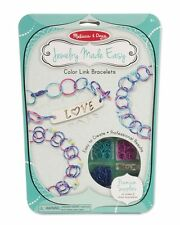 Melissa and Doug Jewelry Made Easy Color Link Bracelets #9472 NEW