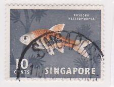 (K65-269) 1962 Singapore 10c Harlequin fish (W)