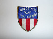 c0112 WW2 US  United States WAR CORRESPONDENT CBI China Burma India Patch R10C