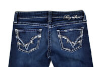 "BIG STAR Women's Dark Wash Sweet Boot Cut Ultra Low Rise Jeans ~ Sz 29 x 29"" L"