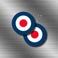 2x RAF 4' Roundel Sticker Vinyl Decal  Die Cut UK Royal Air Force British