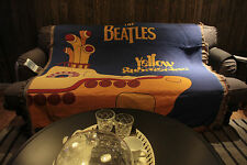 Beatles yellow submarine tapestry wall hangings woven blanket rug Rock band
