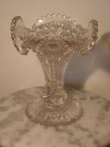 EAPG Ohio Flint Glass Kenneth Clear Crystal Vase