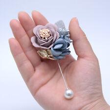 5pcs Wedding Rose Flower Boutonniere Bride Bridesmaid Bridegroom Best Man Brooch