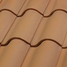 S type Clay  Roof Tile Roofing Spanish Mediterranean Rustic Terracotta Peach