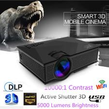 1080P Full HD Mini Smart 3D Wifi LED Projector Home Theater HDMI VGA USB