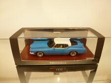 TSM MODEL BUICK RIVIERA 1971 - BLUE 1:43 - VERY GOOD CONDITION IN BOX