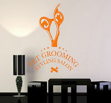Vinyl Wall Decal Pet Grooming Styling Beauty Salon Decor Stickers (ig4812)