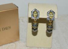 NIB $100 HEIDI DAUS Deco Edition Crystal Accented Dropo Earrings Omega Pierced