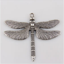 1Pcs Dragonfly Tibetan Silver Charms Pendant Jewelry Making Findings 63mm HN13