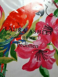 Laura Ashley tropical flowers single bedset New £35!