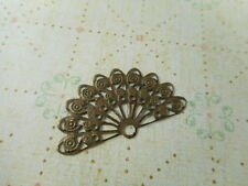 20 Antique Brass Plated 10 Loop Filigree Fan Connectors Findings 24490