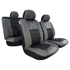 Carbon Black GT Racing Design Spacer Mesh Airbag Auto Seat Covers For Tacoma