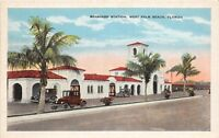 D95/ West Palm Beach Florida Fl Postcard c1915 Seaboard Railroad Station Depot