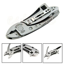 Multi-function Adjustable Wrench Jaw Screwdriver Pliers Knife Survival Gear Tool