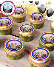 RAINBOW 'YOUR OWN IMAGE ADDED' CUPCAKE TOPPERS, ICING OR WAFER, UK SELLER
