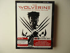 The Wolverine 3D (Blu-ray/DVD, 2013, 4-Disc) NEW Target w/slipcover Black Case