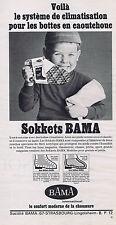 PUBLICITE ADVERTISING 064 1967 BAMA sokkets pour bottes en caoutchouc