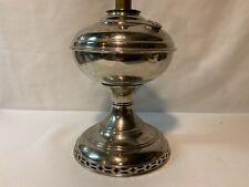 New ListingAladdin kerosene oil lamp early metal #2 nickel plated body good condition