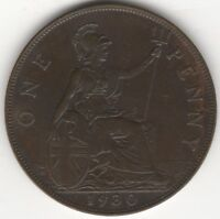 1930 George V One Penny Coin | British Coins | Pennies2Pounds