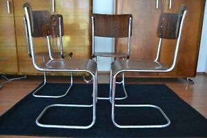 Original Mart Stam Stühle Stuhl Freischwinger Bauhaus Stahlrohr 1925 VICHR