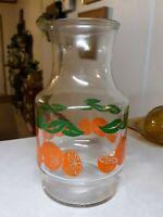Anchor Hocking Orange Juice Carafe Jar Glass Pitcher Kitchen Breakfast Vintage