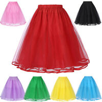Women Vintage Dress 3layers Tulle Crinoline Petticoat Underskirt Skirt Plus Size
